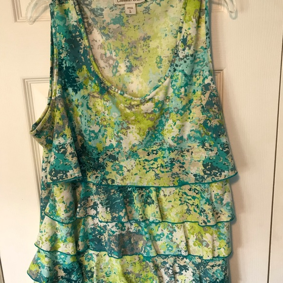 Coldwater Creek Tops - Coldwater Creek multi-layer floral tank top